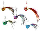 SPECIAL - Feather Bird - 11cm set of 5 - BEADED
