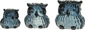Speckled Owls - Grey - set of 3</br><b>Online Special Only</b>