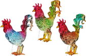 French Roosters - set of 3