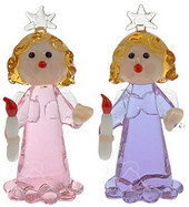 Angel with Candle - set of 6 <br/><b>HURRY! LIMITED STOCK AVAILABLE!</b>