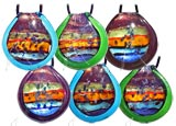 Round Dichroic Necklace - set of 6