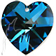 Hearts - 40mm Bermuda Blue - Preciosa