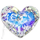 Swarovski Elements Truly In Love Heart - 28mm - AB